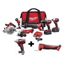 Milwaukee 18-V Lith-Ion Cordless Kit (6-Tool) with 2 Free Tools - $1,099.97