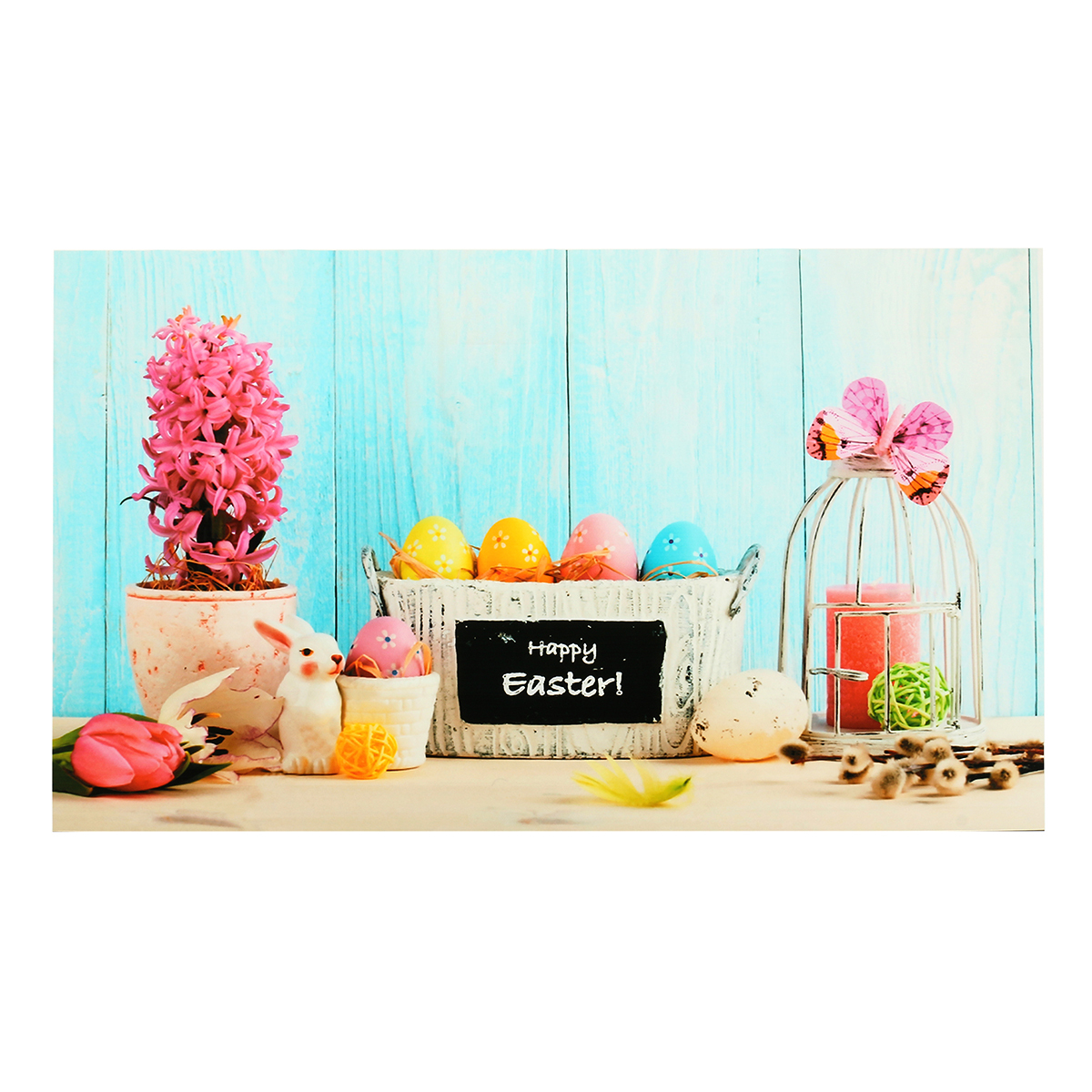 7x5ft/5x3ft Happy Easter Theme Thin Vinyl Photography Backdrop Background Studio