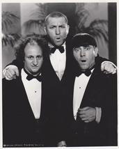 3 Stooges Tuxedos  Moe Larry Curly 65 Vintage 16X20 BW TV Memorabilia Photo - $29.95