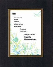 Touching & Heartfelt Poem for Friends - Friends on 11x14 Double Mat - $17.77