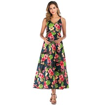 Maternity's Dress V Neck Floral Print Long Slip Dress - $27.99
