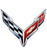 "C8 Corvette Crossed Flag Wall Emblem Large Metal Art Full 20"" by 19"" 202... - $69.99+"