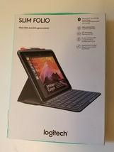 """Logitech iPad 9.7"""" Slim Folio Bluetooth Keyboard Case for iPad 5th 6th G... - $28.01"""