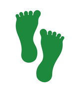 LiteMark 7 Inch Green Removable Barefoot Decals for Floors and Walls 12 ... - $19.95