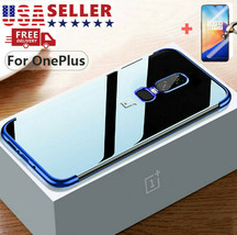 For OnePlus 7 Pro Full Cover Clear Bumper Shockproof Case & Tempered Gla... - $16.00
