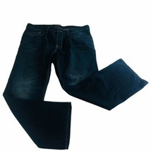 helix mens jeans 38x32 slim boot cut dark wash denim pants - $37.11
