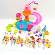 Polly Pocket Doll Lot 2010 Ice Cream Water Park with Many Accessories + Disney - $32.34
