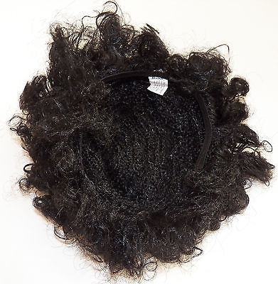 NWT Paper Magic Group Fro Wig Teen Adult Black Curls Halloween Costume Disco