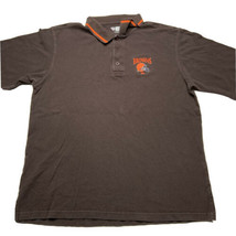 NFL Team Apparel Cleveland Browns Embroidered Short Sleeve Polo Shirt Brown L - $24.68