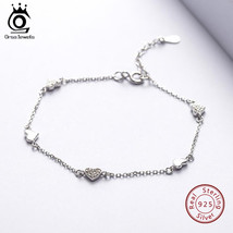 ORSA JEWELS 100% 925 Sterling Silver Bracelets For Women Heart Charms AA... - $27.87