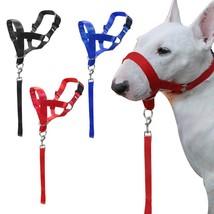 Dogs Head Collar Nylon Training Halter Blue Red Black Colors M L XL XXL ... - $13.27+