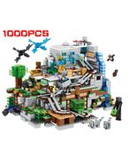 Minecraft Building Blocks The Mountain Cave With Elevator waterfall Bricks Educa - $63.00