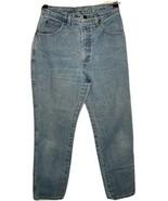 LANDS END size 8 Inseam 29 Ladies 5-Pocket Hi-Rise Blue 100% Cotton Jeans  - $19.75