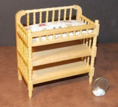 1 Pcs Baby Changing Table Dollhouse Miniature Wood 1:12 one inch scale - DL - $50.00
