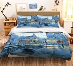 3D Christmas  Xmas 05 Bed Pillowcases Quilt Duvet Cover Set Single Queen King AU - $64.32+