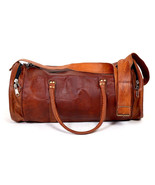 New 22″ Pure Vintage Rustic Soft Leather Unisex Travel Casual Duffel Gym... - $64.04