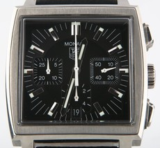 Tag Heuer Monaco CW2111 Automatic Chronograph Stainless Steel Mens Watch - $4,561.92
