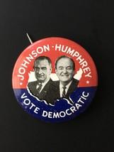 1964 Presidential Campaign Button Lyndon Johnson, Humphrey Pinback Pin U.S. - $5.93