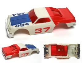 1980 Ideal TCR Chevy Chevelle Red, White & Blue Slot Car Body 3277-1 - $18.80