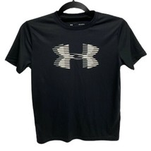 Boys Under Armour Size Youth Large Loose Heat Gear Black Shirt - $12.77