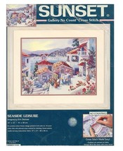 Sunset Seaside Leisure Gallery No Count Cross Stitch Kit New 13955 Kit Dertner - $75.99