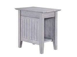 Atlantic Furniture AH13308 Nantucket Chair Side Table, Driftwood - $82.23