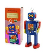 "NEUTRON ROBOT 5"" Saint St John Wind Up Tin Toy Collectible Retro Space A... - $26.95"