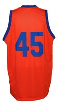 White Shadow TV Warren Coolidge Carver High Basketball Jersey Orange Any Size image 5