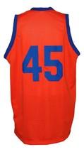 White Shadow TV Warren Coolidge Carver High Basketball Jersey Orange Any Size image 4