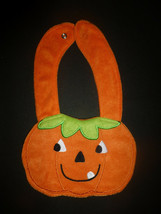NEW Carter's Pumpkin Jack O'Lantern Halloween Terry Cloth Teething Baby Bib - $3.95