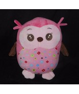 """12"""" BABIES R US BABY PINK OWL SOFT PILLOW STUFFED ANIMAL PLUSH TOY ROOM ... - $27.12"""