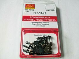 Micro-Trains Stock #00302132 (1182) Commonwealth 6-Wheel Freight Trucks Medium  image 4