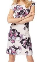 INC International Concepts Dress Sz L Grey Multi Glory Lilies Mesh Casua... - $49.44
