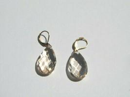 Joan Rivers Faceted Smokey Teardrop Gold-Tone Earrings - see full desc &... - $4.39
