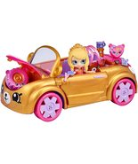 Shopkins Happy Places Royal Convertible with Tiara Sparkles exclusive w/ petkins - $21.95