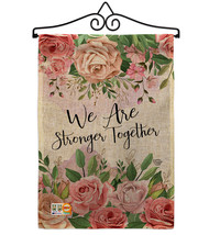 We Are Stronger Together Burlap - Impressions Decorative Metal Wall Hanger Garde - $33.97