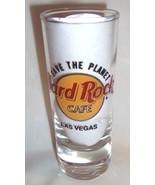 "Hard Rock Cafe Las Vegas Shotglass 4"" Tall 2 oz Save the Planet - $9.99"