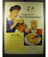 1950 Derby Peter Pan Peanut Butter Ad - Youngsters prefer Peter Pan - $14.99