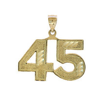 "14K Yellow Gold Michael Jordan ""45"" Charm - $137.61"