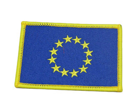 European Union Country Flag Wholesale lot of 3 Iron On Patch - $22.00