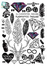Rocooart A6080-201 Big Black tatuagem Taty Body Art Temporary Tattoo Stickers Fe - $20.99