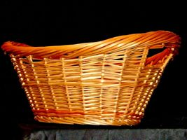 Handmade Woven Wicker Basket with Double Handles AA-191710  Vintage Collectible image 6