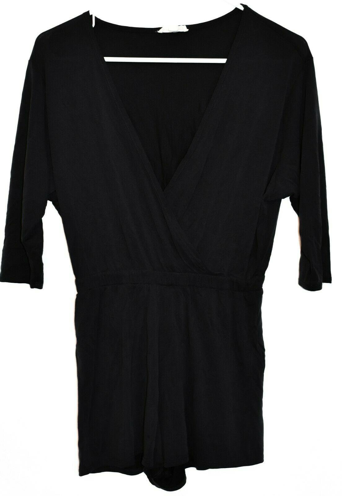 Silnce + Noise Women's Dark Gray Surplice V-Neck Romper Jumpsuit Size XS