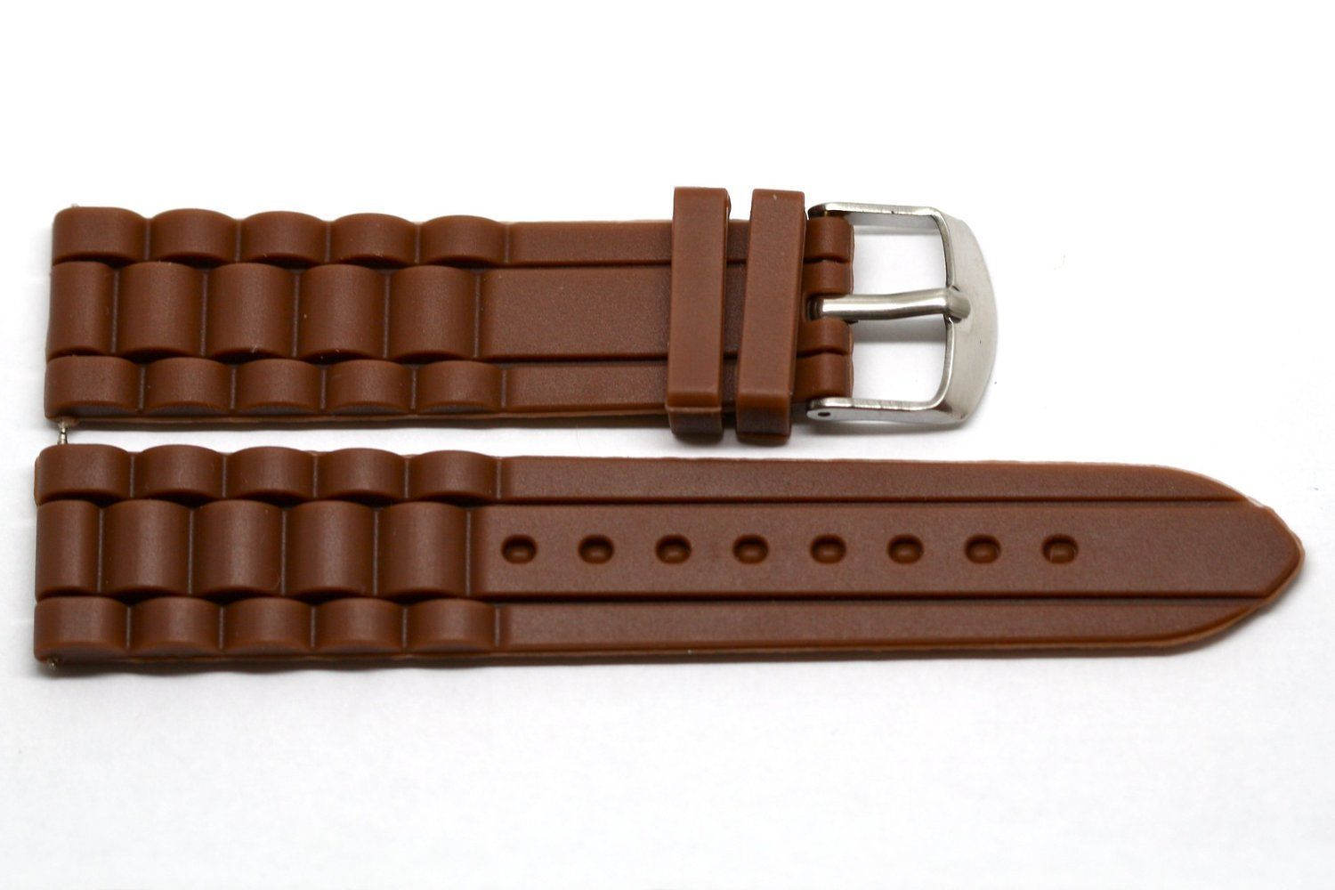 20MM BROWN SILICONE JELLY RUBBER SPORT WATCH BAND FITS FOSSIL RILEY - $9.89
