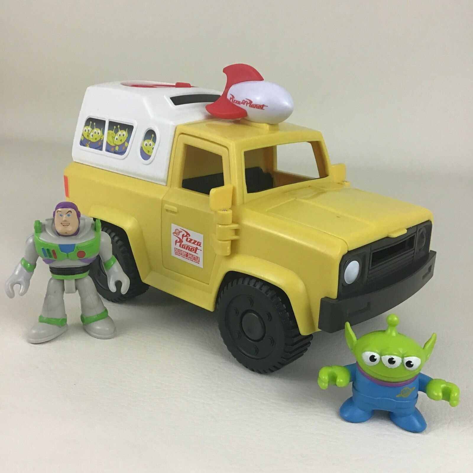 Imaginext Disney Toy Story Pizza Planet Truck Little Green Men Alien 2011 Mattel - $19.75