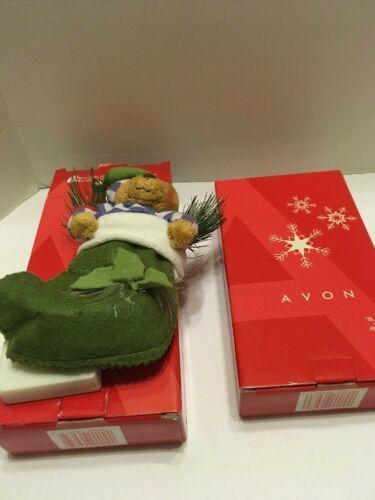 Fiber Optic Bear Reindeer Ornaments Avon Holiday Friends Lights Up Lot Of 2