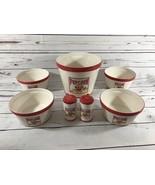 Tabletops Gallery 7 Piece Ceramic Popcorn Set 1 Bucket, 4 Bowls, 2 Shakers - $18.70