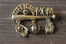 Vintage AJC Official Mom Baseball Brooch - $11.87
