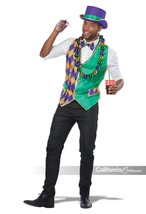 California Costumes Mardi Gras Vest Kit Adult Man Halloween Costume 60734 - $26.37