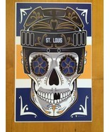 St. Louis Blues STANLEY CUP Champions Sugar Skull Mask Poster 11 X 17 New - £12.64 GBP